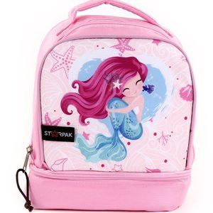 "STARPAK 9"" Drop Bottom Lunch Bag - Mermaid (Pack o"